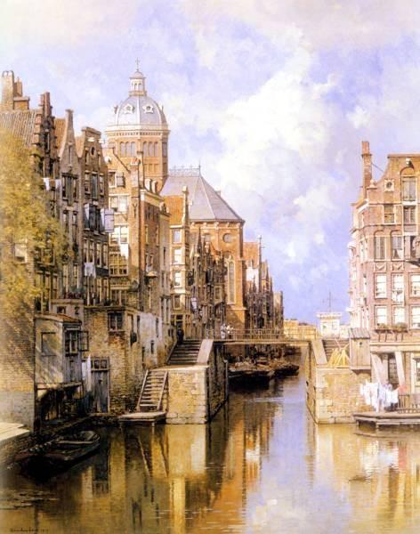 The Oudezijdsvoorburgwal Amsterdam